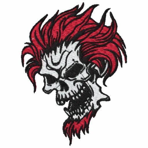 Devilish Schädel gesticktes Shirt