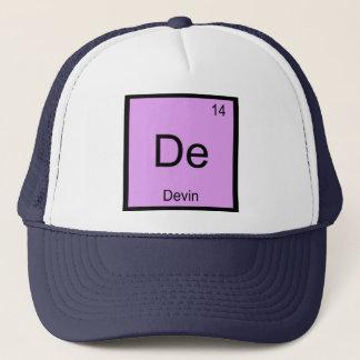 Devin Namenschemie-Element-Periodensystem Truckerkappe