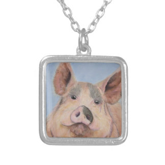 Devine Schweine Versilberte Kette