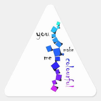 Devolissium - gefallene Würfel mit Text Dreieckiger Aufkleber