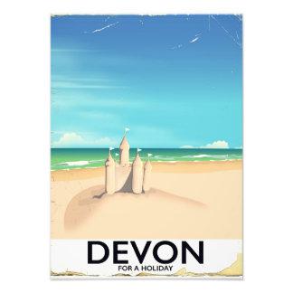 Devon, England für einen Feiertag Fotodruck