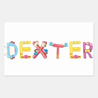 Dexter-Aufkleber Rechteckiger Aufkleber