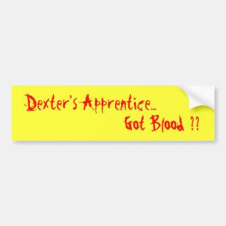 Dexters Lehrling…, Blut erhalten?? Autoaufkleber