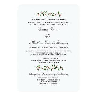 Dezember-Feiertags-Winter Wedding formale Karte