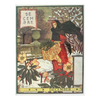 Dezember Postkarte