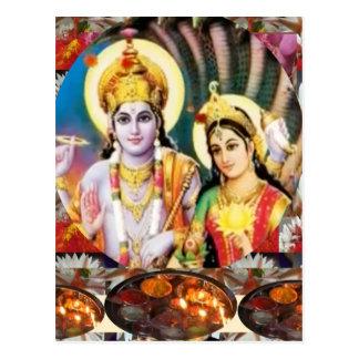DHAN Laxmi n Lord Vishnu: als Referenz der Postkarte