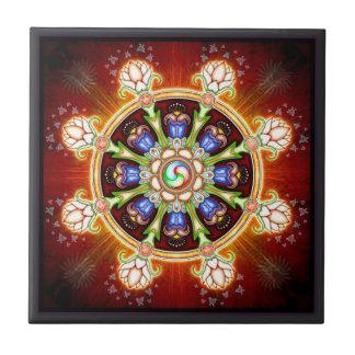 Dharma - Rad Kleine Quadratische Fliese