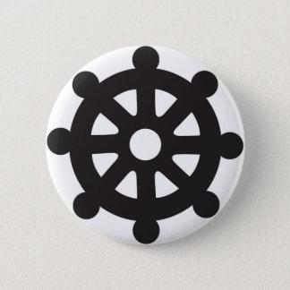 """Dharmacakra, Dharmachakra, """"Rad von Dharma """" Runder Button 5,1 Cm"""