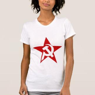 DHKC weißer Hammer u. Sichel auf Frauen T-Shirt