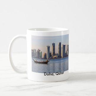 Dhow- und Doha-Skyline Kaffeetasse