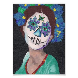 Dia De Los Muertos Blue Dame Photodruck