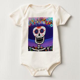 Dia de Los Muertos Catrina durch Prisarts Baby Strampler
