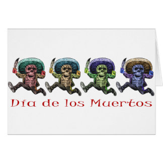 Dia de Los Muertos Karte