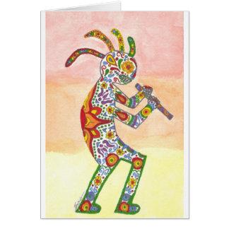 Dia de Los Muertos Kokopelli Karte