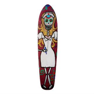 Dia de Los Muertos Nurse Skate Board