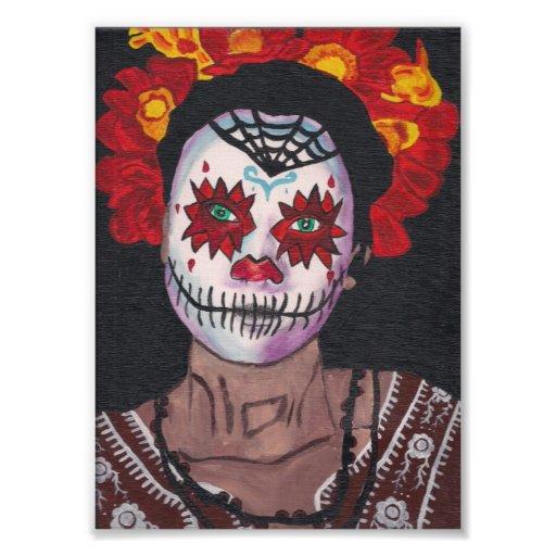 Dia De Los Muertos Red Dame Foto