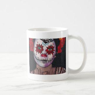 Dia De Los Muertos Red Dame Kaffeetasse