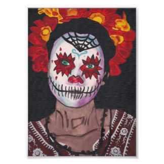 Dia De Los Muertos Red Dame Photodrucke