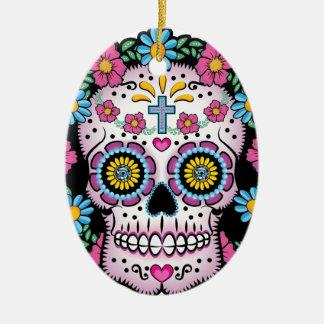 Dia de Los Muertos Skull Keramik Ornament