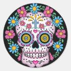 Dia de Los Muertos Skull Runder Aufkleber