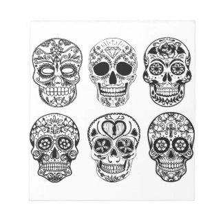 Dia de Los Muertos Skulls (Tag der Toten) Notizblock
