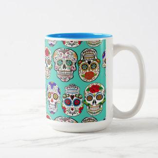 Dia de Los Muertos (Tag der Toten) Zweifarbige Tasse