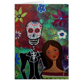 Dia de Los Muertos Wedding Karte