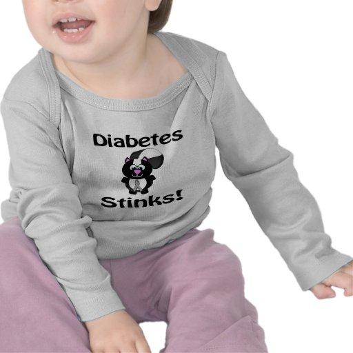 Diabetes stinkt Stinktier-Bewusstseins-Entwurf Tshirts