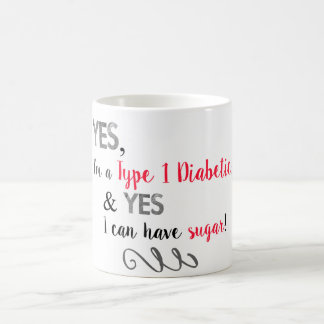 Diabetiker können Zucker essen Kaffeetasse