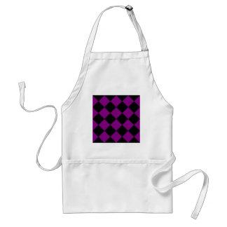 Diag Checkered großes - schwarz und lila Schürze