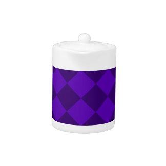 Diag kariert - violettes und dunkles Veilchen
