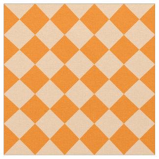 Diag kariertes Groß-Licht orange und Stoff