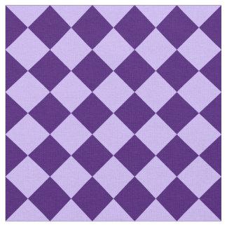 Diag kariertes Groß-Licht violettes und dunkles Stoff