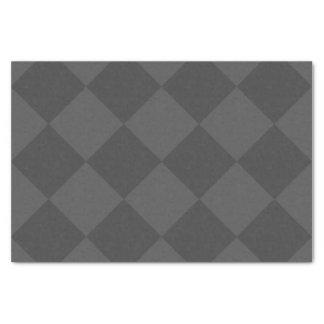 Diag kariertes großes - grau und dunkelgrau seidenpapier