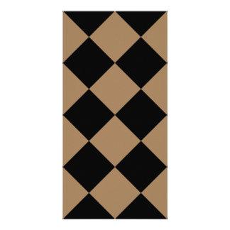 Diag kariertes großes - schwarzes und blasses karte