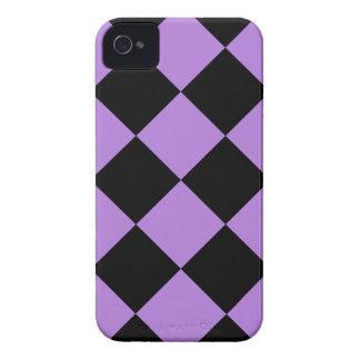 Diag kariertes großes - Schwarzes und Lavendel Case-Mate iPhone 4 Hüllen