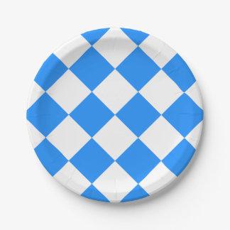 Blau und wei teller Pappteller blau