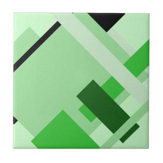 Diagonale geometrische multi grüne keramikfliese