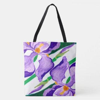 Diagonale lila Iris-Tasche Tasche