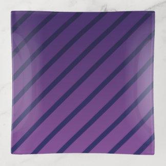 Diagonale lila und tiefe blaue Streifen Dekoschale