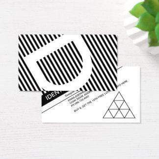 Diagonale macht Loyalitäts-Briefmarke blind Visitenkarte