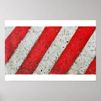 Diagonale rote weiße Linien städtische Poster