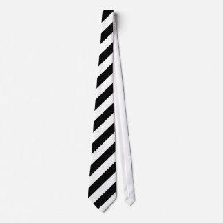 Diagonale Schwarzweiss-Streifen Bedruckte Krawatten