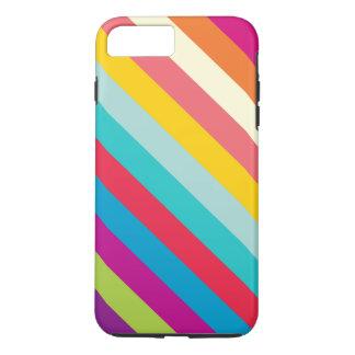 Diagonale Streifen in den Sommer-Farben iPhone 8 Plus/7 Plus Hülle