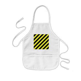 diagonale Streifen Schwarzes und Gelb Kinderschürze