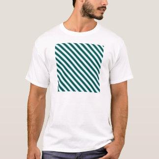 Diagonale Stripes 2 - Celeste und tiefes T-Shirt