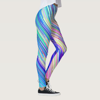 Diagonale Stripes Gamaschen Leggings