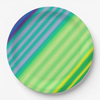 Diagonaler Kontrast-Papier-Teller Pappteller