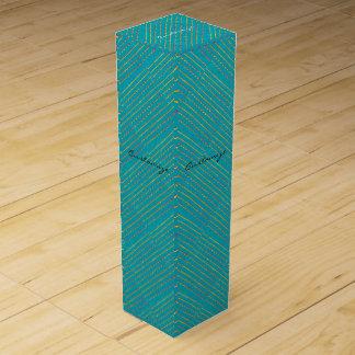 diagonales Muster des blauen Grüns Weinbox