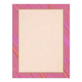Diagonales rosa abstraktes Muster 21,6 X 27,9 Cm Flyer